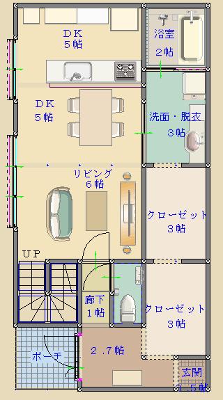 間取り検討1_2D_1F-1